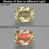 thumb image of 1.3ct Cushion-Cut Green/Pink Color-Change Diaspore (ID: 397525)