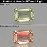 thumb image of 1.2ct Octagon Facet Green/Pink Color-Change Diaspore (ID: 397552)