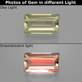 thumb image of 1.4ct Baguette Facet Green/Pink Color-Change Diaspore (ID: 398467)