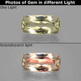 thumb image of 1.2ct Cushion-Cut Very Light Yellow Color-Change Diaspore (ID: 398509)