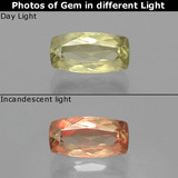 thumb image of 1.4ct Cushion-Cut Green/Pink Color-Change Diaspore (ID: 398788)