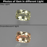 thumb image of 1.1ct Cushion-Cut Green/Pink Color-Change Diaspore (ID: 411358)