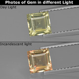 thumb image of 1ct Square Facet Green/Pink Color-Change Diaspore (ID: 411542)
