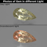 thumb image of 1.4ct Pear Facet Green/Pink Color-Change Diaspore (ID: 422072)