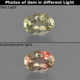 thumb image of 0.9ct Oval Facet Green/Pink Color-Change Diaspore (ID: 422184)