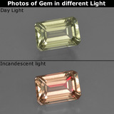 thumb image of 1ct Octagon Facet Green/Pink Color-Change Diaspore (ID: 422310)