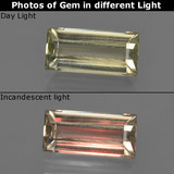 thumb image of 1.5ct Baguette Facet Green/Pink Color-Change Diaspore (ID: 422375)