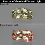 thumb image of 1.5ct Cushion-Cut Green/Pink Color-Change Diaspore (ID: 422473)