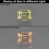 thumb image of 0.8ct Octagon Facet Green/Pink Color-Change Diaspore (ID: 422795)