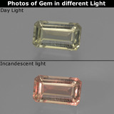 thumb image of 0.8ct Octagon Facet Light Yellow Color-Change Diaspore (ID: 422823)
