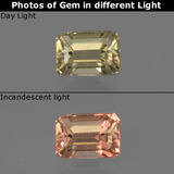 thumb image of 0.9ct Octagon Facet Green/Pink Color-Change Diaspore (ID: 422828)