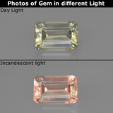 thumb image of 0.9ct Octagon Facet Green/Pink Color-Change Diaspore (ID: 422830)