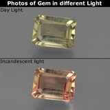 thumb image of 0.7ct Octagon Facet Green/Pink Color-Change Diaspore (ID: 422887)