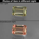 thumb image of 0.6ct Octagon Facet Green/Pink Color-Change Diaspore (ID: 422890)