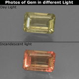 thumb image of 1ct Octagon Facet Green/Pink Color-Change Diaspore (ID: 422893)