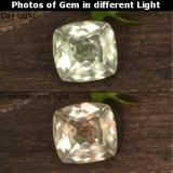 thumb image of 0.8ct Cushion-Cut Very Light Yellow Color-Change Diaspore (ID: 424595)