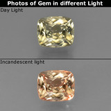 thumb image of 0.9ct Cushion-Cut Green/Pink Color-Change Diaspore (ID: 424597)