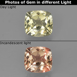 thumb image of 0.9ct Cushion-Cut Green/Pink Color-Change Diaspore (ID: 424696)