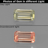 thumb image of 0.7ct Octagon Facet Green/Pink Color-Change Diaspore (ID: 424700)