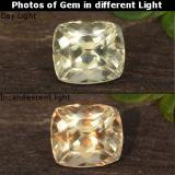 thumb image of 0.7ct Cushion-Cut Green/Pink Color-Change Diaspore (ID: 424767)