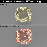 thumb image of 0.8ct Cushion-Cut Green/Pink Color-Change Diaspore (ID: 424820)