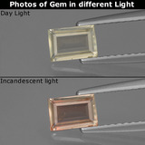 thumb image of 0.4ct Baguette Facet Green to Pink Color-Change Diaspore (ID: 424840)
