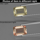 thumb image of 0.6ct Octagon Facet Green/Pink Color-Change Diaspore (ID: 424842)