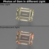 thumb image of 0.8ct Octagon Facet Green/Pink Color-Change Diaspore (ID: 424845)