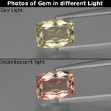 thumb image of 1.1ct Cushion-Cut Very Light Yellow Color-Change Diaspore (ID: 424865)
