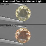 thumb image of 0.5ct Round Facet Green/Pink Color-Change Diaspore (ID: 436913)