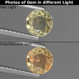 thumb image of 0.5ct Round Facet Green/Pink Color-Change Diaspore (ID: 436917)
