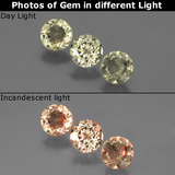 thumb image of 1.4ct Round Facet Green/Pink Color-Change Diaspore (ID: 437029)