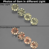thumb image of 2.1ct Round Facet Green/Pink Color-Change Diaspore (ID: 437031)