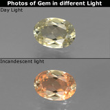thumb image of 0.8ct Oval Facet Green/Pink Color-Change Diaspore (ID: 437089)