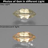 thumb image of 0.7ct Marquise Facet Green/Pink Color-Change Diaspore (ID: 437178)