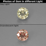 thumb image of 0.7ct Round Facet Green/Pink Color-Change Diaspore (ID: 437230)