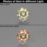 thumb image of 0.7ct Round Facet Green/Pink Color-Change Diaspore (ID: 437237)
