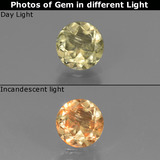 thumb image of 0.9ct Round Facet Green/Pink Color-Change Diaspore (ID: 437347)