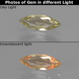 thumb image of 0.7ct Marquise Facet Green/Pink Color-Change Diaspore (ID: 437414)