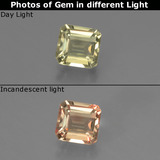 thumb image of 0.7ct Octagon Facet Green/Pink Color-Change Diaspore (ID: 439675)