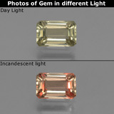 thumb image of 1ct Octagon Facet Green/Pink Color-Change Diaspore (ID: 439734)