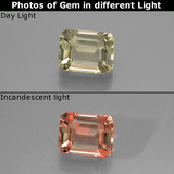 thumb image of 1ct Octagon Facet Green/Pink Color-Change Diaspore (ID: 439795)