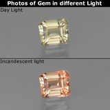 thumb image of 0.8ct Octagon Facet Green/Pink Color-Change Diaspore (ID: 439799)