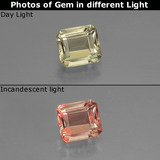 thumb image of 0.7ct Octagon Facet Green/Pink Color-Change Diaspore (ID: 439800)