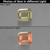 thumb image of 0.7ct Octagon Facet Green/Pink Color-Change Diaspore (ID: 439802)