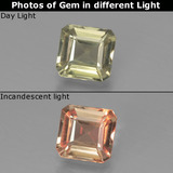 thumb image of 0.9ct Octagon Facet Green to Pink Color-Change Diaspore (ID: 439866)