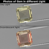 thumb image of 1ct Octagon Facet Green/Pink Color-Change Diaspore (ID: 439868)