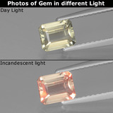 thumb image of 0.9ct Octagon Facet Very Light Yellow Color-Change Diaspore (ID: 439871)