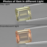thumb image of 1ct Octagon Facet Green/Pink Color-Change Diaspore (ID: 439872)