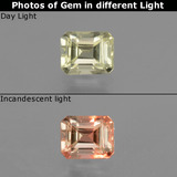 thumb image of 0.7ct Octagon Facet Green/Pink Color-Change Diaspore (ID: 439962)